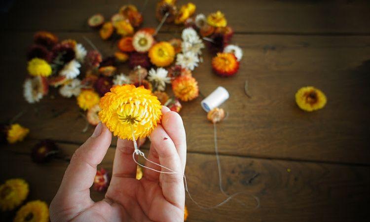 A Dried Floral Garland