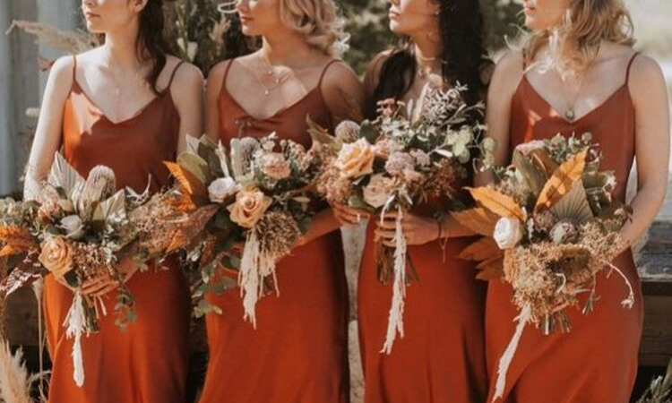 Bouquets for the bride and bridesmaids