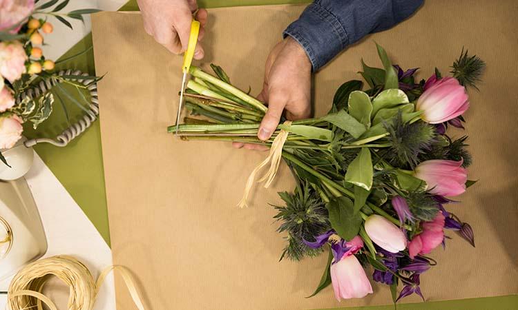 why do you cut flower stems